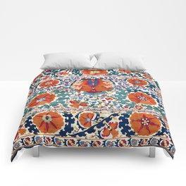 Shakhrisyabz Suzani Uzbekistan Antique Embroidery Print Comforters
