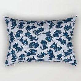 Rover's Day Off (Blue) Rectangular Pillow