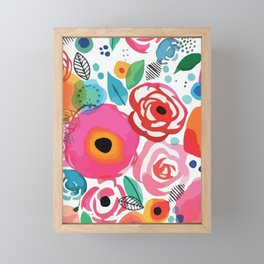 Abstract Floret Framed Mini Art Print
