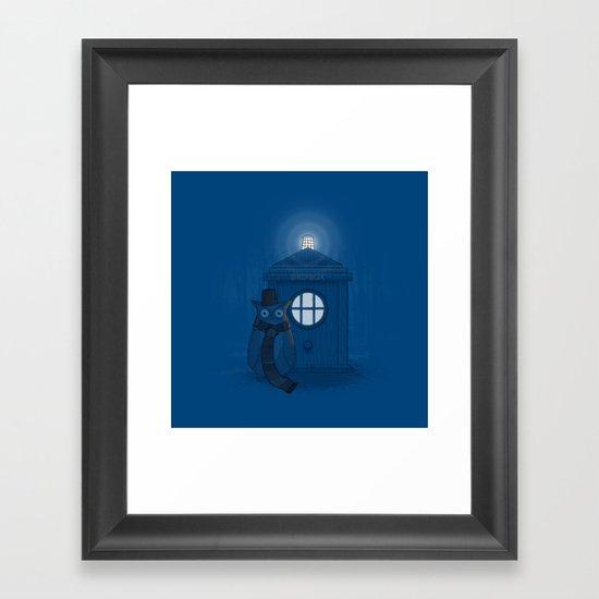 Dr Who Who? Framed Art Print