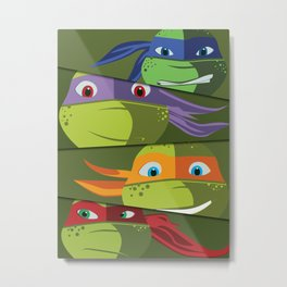 Teenage Mutant Ninja Turtles Vector Art Metal Print