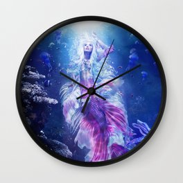 The Mermaid's Encounter Wall Clock