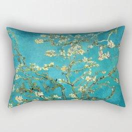 Vincent Van Gogh Blossoming Almond Tree Rechteckiges Kissen