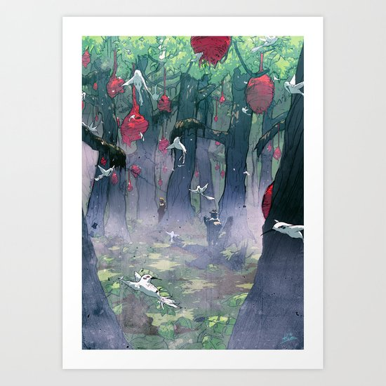 The Edenbird Hive Art Print