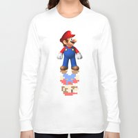 super mario Long Sleeve T-shirts featuring Super Mario by idaspark