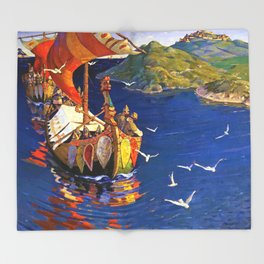 Guests From Overseas - Digital Remastered Edition Throw Blanket