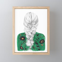 Braid in Green Framed Mini Art Print