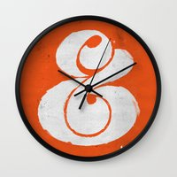 ampersand Wall Clocks featuring Ampersand by Andrei Robu