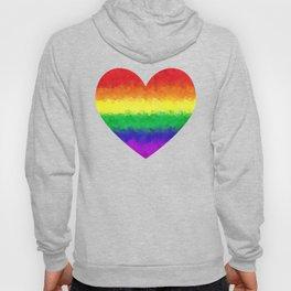 Pride Geometric Rainbow Heart LGBT Love and Support Hoody