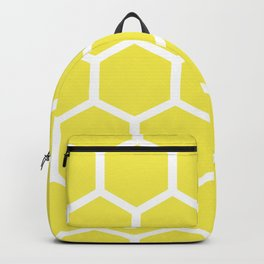 Honeycomb pattern - lemon yellow Backpack