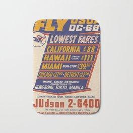 Werbeposter Fly USDA DC6 voyage poster Bath Mat