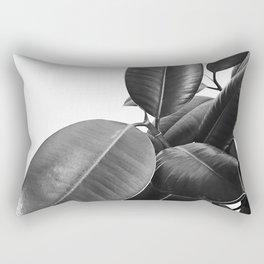 Ficus Elastica #23 #BlackAndWhite #foliage #decor #art #society6 Rectangular Pillow