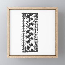 Crochet Impressions: LEAVES Framed Mini Art Print