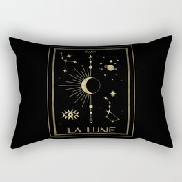 The Moon or La Lune Gold Edition Rectangular Pillow