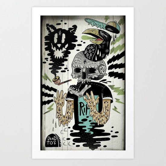 Just another day for Mr. Crow  Art Print