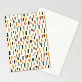 Rainbow Confetti Pattern Stationery Cards