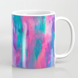 Colorful Abstract Painting with Glitter and Iridescent Paints Coffee Mug