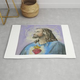 Profile of Sacred Heart of Jesus Rug
