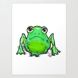 Cute Critters - Froggy Art Print