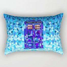 Phone Booth Tardis Doctor Who Cubic Art Rectangular Pillow