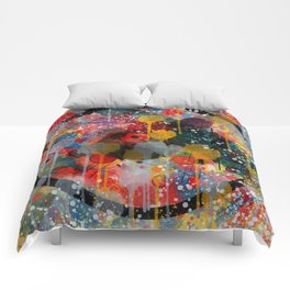Kandinsky Action Painting Street Art Colorful Comforters