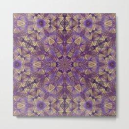 Purple Lace Pattern Metal Print