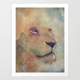 Lion Eyes Art Print