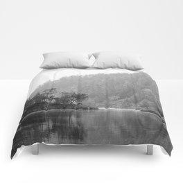 Historic Mattawa River in Black and White Comforters