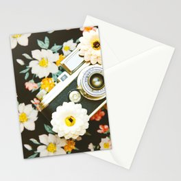 Floral Vintage Camera (Color) Stationery Cards