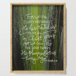 Created Anew on Greenery  |  Ephesians 2:10 Serving Tray