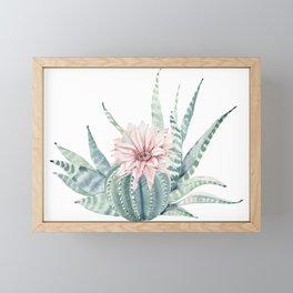 Petite Cactus Echeveria Framed Mini Art Print