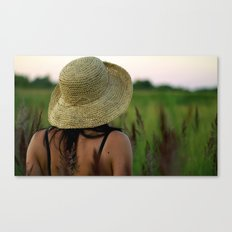 Girl's Summer Evening in Russia  Canvas Print