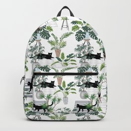 cats in the interior pattern Backpack