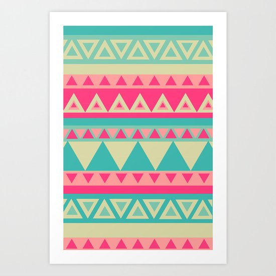 Tropical Tribal Art Print