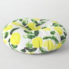 Summer Lemons Floor Pillow
