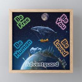 Advent Guard Earth Tranquil Whale Aspect Framed Mini Art Print