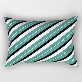 TEAM COLORS 1...teal,black AND white Rectangular Pillow