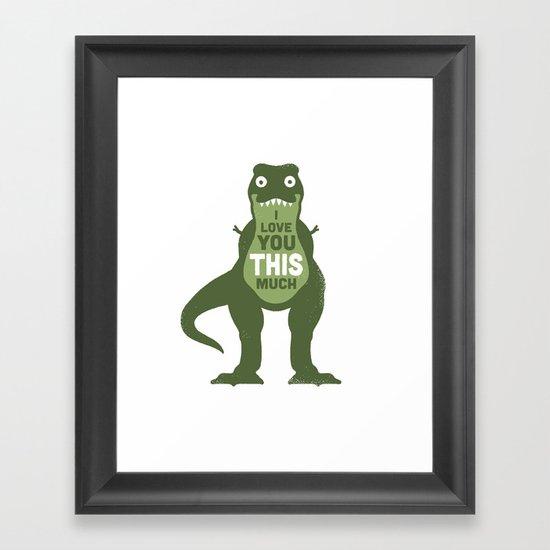 Amourosaurus Framed Art Print