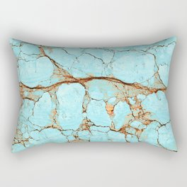 Cracked Turquoise & Rust Rectangular Pillow