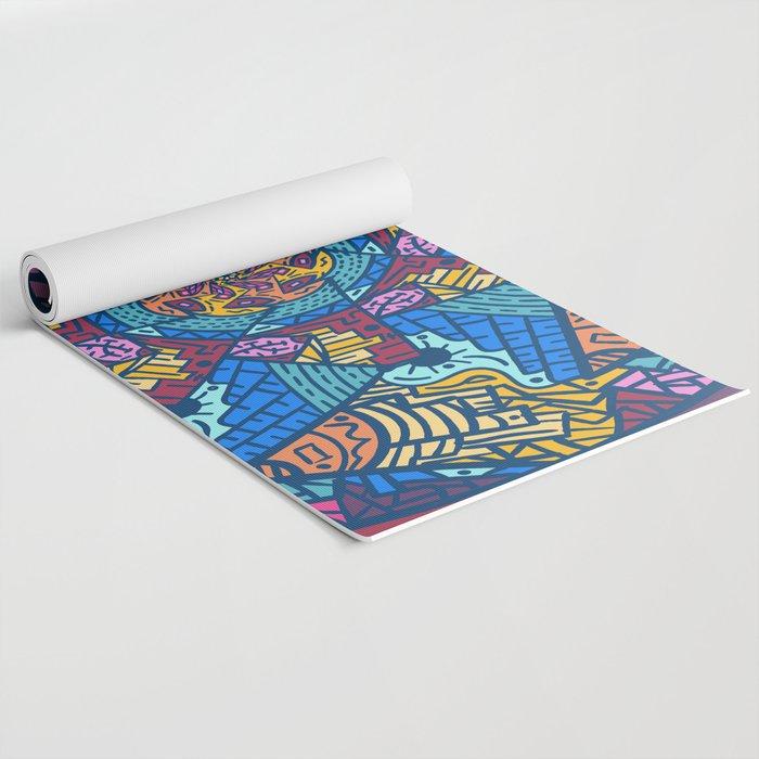 Mountain abstract mandala Yoga Mat