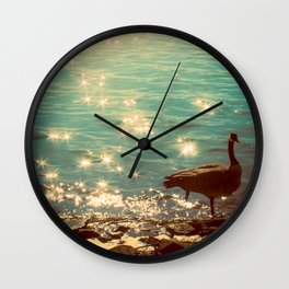 Showering in Sparkling Sunshine Wall Clock