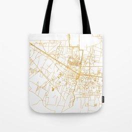 SIEM REAP CAMBODIA CITY STREET MAP ART Tote Bag