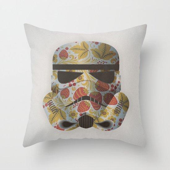 STRAWBEЯRY TROOPER Throw Pillow