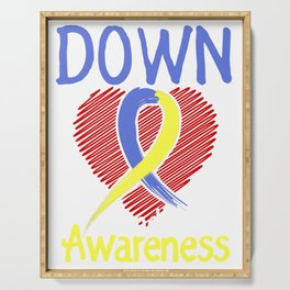 Down Syndrome Awareness Fight Prevent Novelty Serving Tray