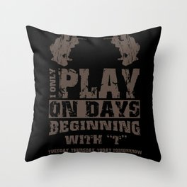 Great Paintball Design Outdoor Gotcha Throw Pillow