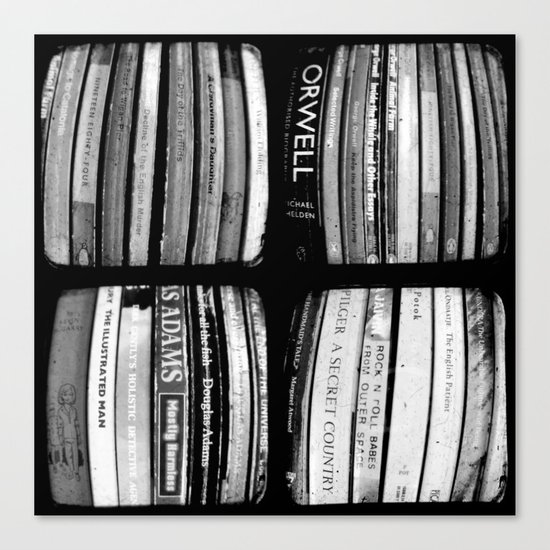 The Bookshelf - Through The Viewfinder (TTV) - Polyptych Canvas Print