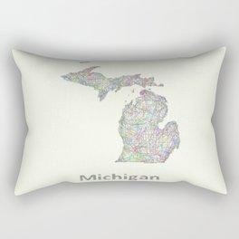 Michigan map Rectangular Pillow