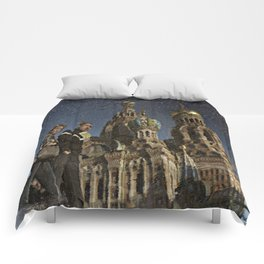 The Church of the Savior on Spilled Blood, St.Petersburg, Russia. Comforters
