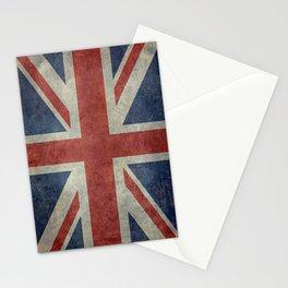 England's Union Jack, Dark Vintage 3:5 scale Stationery Cards