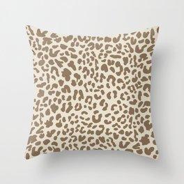 Light Tan Leopard Skin Throw Pillow
